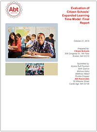 Evaluation of Citizen Schools' Expanded Learning Time Model: Final Report