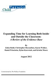 Expanding Time for Learning Both Inside and Outside the Classroom: A Review of the Evidence Base