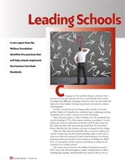Leading Schools Through Major Change: Principals and the Common Core