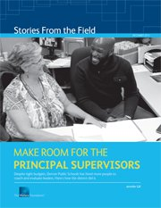 Make Room for the Principal Supervisors