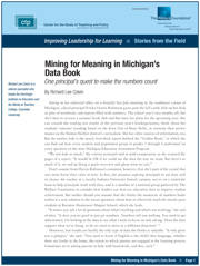 Mining for Meaning in Michigan's Data Book
