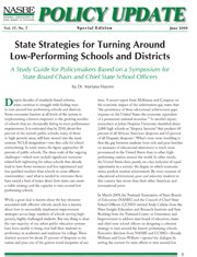 State Strategies for Turning Around Low-Performing Schools and Districts