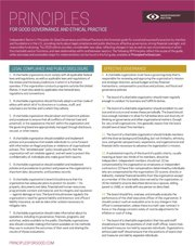 Summary of Principles for Good Governance and Ethical Practice