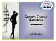 Leading Change Handbook: Concepts and Tools