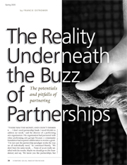 The Reality Underneath the Buzz of Partnerships