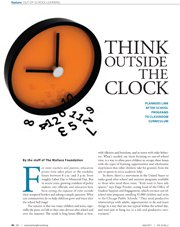 Think Outside the Clock: Planners Link After-School Programs to Classroom Curriculum