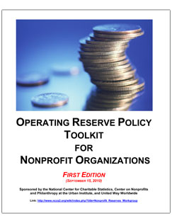 Operating Reserve Policy Toolkit for Nonprofit Organizations
